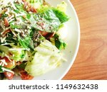 bowl of caesar salad on the... | Shutterstock . vector #1149632438