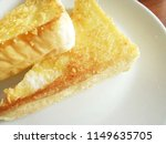 toasted slice of bread on white ... | Shutterstock . vector #1149635705