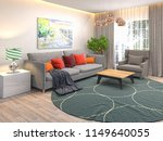 interior of the living room. 3d ... | Shutterstock . vector #1149640055