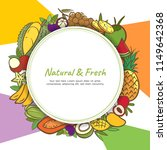 tropical fruits cute banner... | Shutterstock .eps vector #1149642368