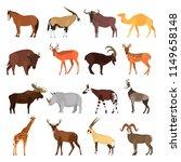 herbivorous ungulates color...   Shutterstock .eps vector #1149658148