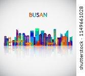 busan skyline silhouette in... | Shutterstock .eps vector #1149661028