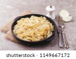 homemade caramelized onions in... | Shutterstock . vector #1149667172