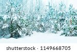 beautiful christmas tree in the ... | Shutterstock . vector #1149668705