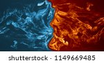 abstract fire and ice element... | Shutterstock . vector #1149669485