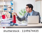 businessman working with... | Shutterstock . vector #1149674435