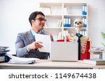 businessman working with... | Shutterstock . vector #1149674438