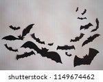 flying bats  paper work  in... | Shutterstock . vector #1149674462