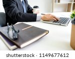 business man working with... | Shutterstock . vector #1149677612