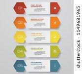 design clean number banners... | Shutterstock .eps vector #1149681965