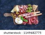 italian antipasti wine snacks... | Shutterstock . vector #1149682775