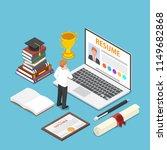 flat 3d isometric businessman... | Shutterstock .eps vector #1149682868