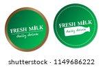 fresh milk stickers | Shutterstock .eps vector #1149686222