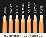 acrylic nail shapes set.... | Shutterstock .eps vector #1149686672