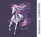 magical violet unicorn with a... | Shutterstock .eps vector #1149687005