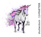 magical light violet unicorn... | Shutterstock .eps vector #1149687008