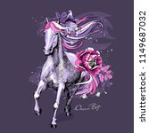magical violet horse with a... | Shutterstock .eps vector #1149687032