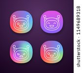 robot emojis app icons set.... | Shutterstock .eps vector #1149689318