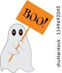 boo illustration for halloween   Shutterstock .eps vector #1149692045