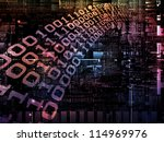 Deep Networking series. Backdrop design of industrial grunge texture, numbers and dark gradients to provide supporting composition for works on computing, industrial design and modern technology - stock photo