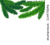 fir branches  vector christmas... | Shutterstock .eps vector #114970096