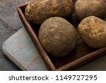 preparing heritage potatoes | Shutterstock . vector #1149727295