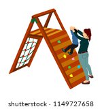 mother playing with son at... | Shutterstock .eps vector #1149727658