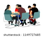 young business people sitting... | Shutterstock .eps vector #1149727685
