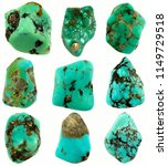 nine pieces tumbled turquoise... | Shutterstock . vector #1149729518