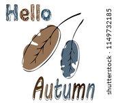 hello autum. vector... | Shutterstock .eps vector #1149732185