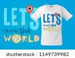 let's go travel the world  t...   Shutterstock .eps vector #1149739982