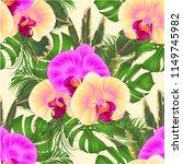 seamless texture bouquet with... | Shutterstock .eps vector #1149745982