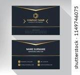 business model name card luxury ... | Shutterstock .eps vector #1149746075