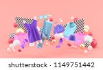 dresses  pants  sweatshirts ... | Shutterstock . vector #1149751442