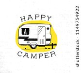 mobile recreation. happy camper ... | Shutterstock .eps vector #1149754922