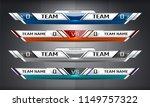 scoreboard broadcast graphic... | Shutterstock .eps vector #1149757322