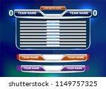 scoreboard broadcast graphic... | Shutterstock .eps vector #1149757325