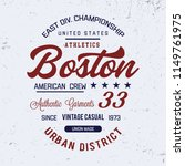 boston typography. vector... | Shutterstock .eps vector #1149761975