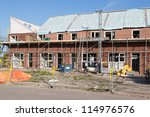 construction site with family... | Shutterstock . vector #114976576