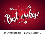 best wishes lettering card ... | Shutterstock .eps vector #1149768842