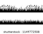 vector black grass  natural ... | Shutterstock .eps vector #1149772508