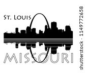 saint louis city skyline  black ... | Shutterstock .eps vector #1149772658