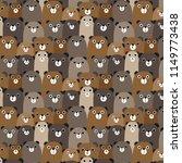 hand drawn bears vector pattern ... | Shutterstock .eps vector #1149773438