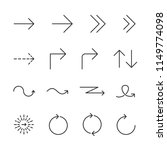 vector image set arrow line... | Shutterstock .eps vector #1149774098