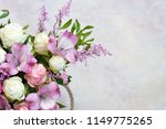 beautiful flowers on white... | Shutterstock . vector #1149775265