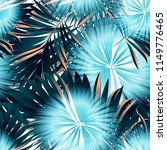 tropical palm leaves  jungle .... | Shutterstock .eps vector #1149776465