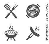 bbq or grill tools icon.... | Shutterstock .eps vector #1149789932