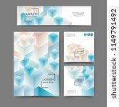 set of color abstract brochure... | Shutterstock .eps vector #1149791492
