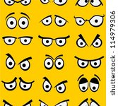 cartoon eyes seamless pattern. | Shutterstock .eps vector #114979306