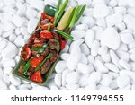 vegetables grill background... | Shutterstock . vector #1149794555